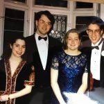 from left, Gayle Meyers (news) '92, Brian Smith (art), '92, Emily Culbertson (news), 1993, Dan Schwartz (92)