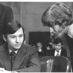 Marty Siegal ('77) with Sam Dash, the majority counsel for the committee