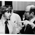 Marty Siegal ('77) with Donald Segretti, the Watergate dirty tricks expert.