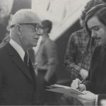 Chris Jennewein Interviewing Buckminster Fuller for DP in 1972